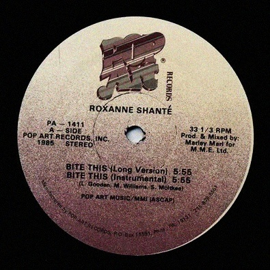 'Bite this' by Roxanne Shanté is my new jam.