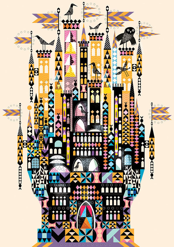 Reminds me of Mary Blairs work for WED and the work of Alexander Girard. Lovely. (via  It's Nice That: Geometric mythology from the prolifically talented Lesley Barnes )