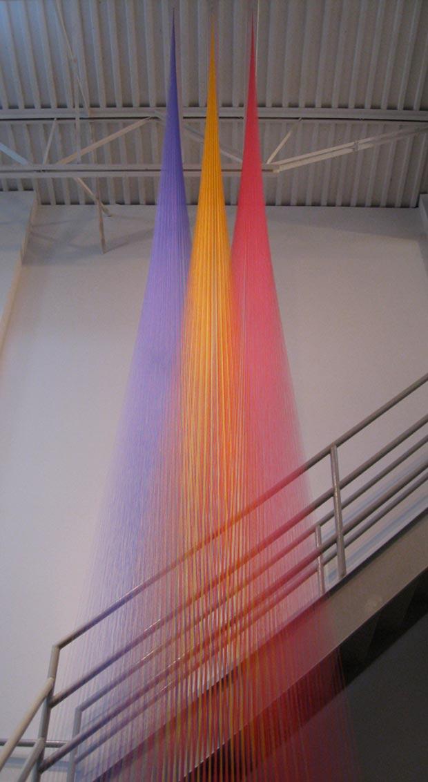 Amazing installation by Gabriel Dawe.     Found via  Cool Hunting
