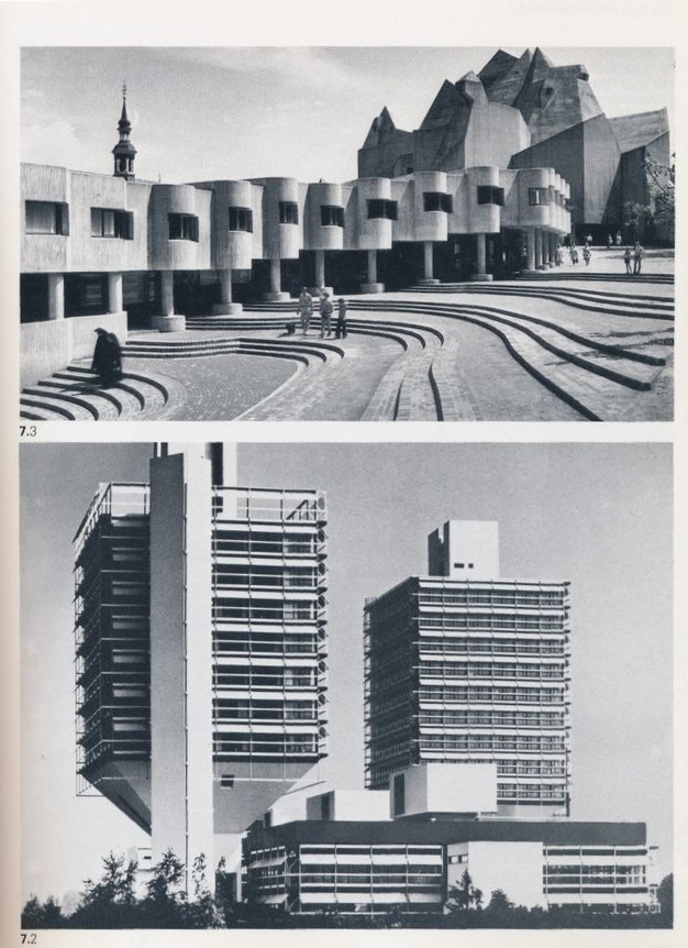 From the German Product Design History Book. A church and Olivetti's HQ.