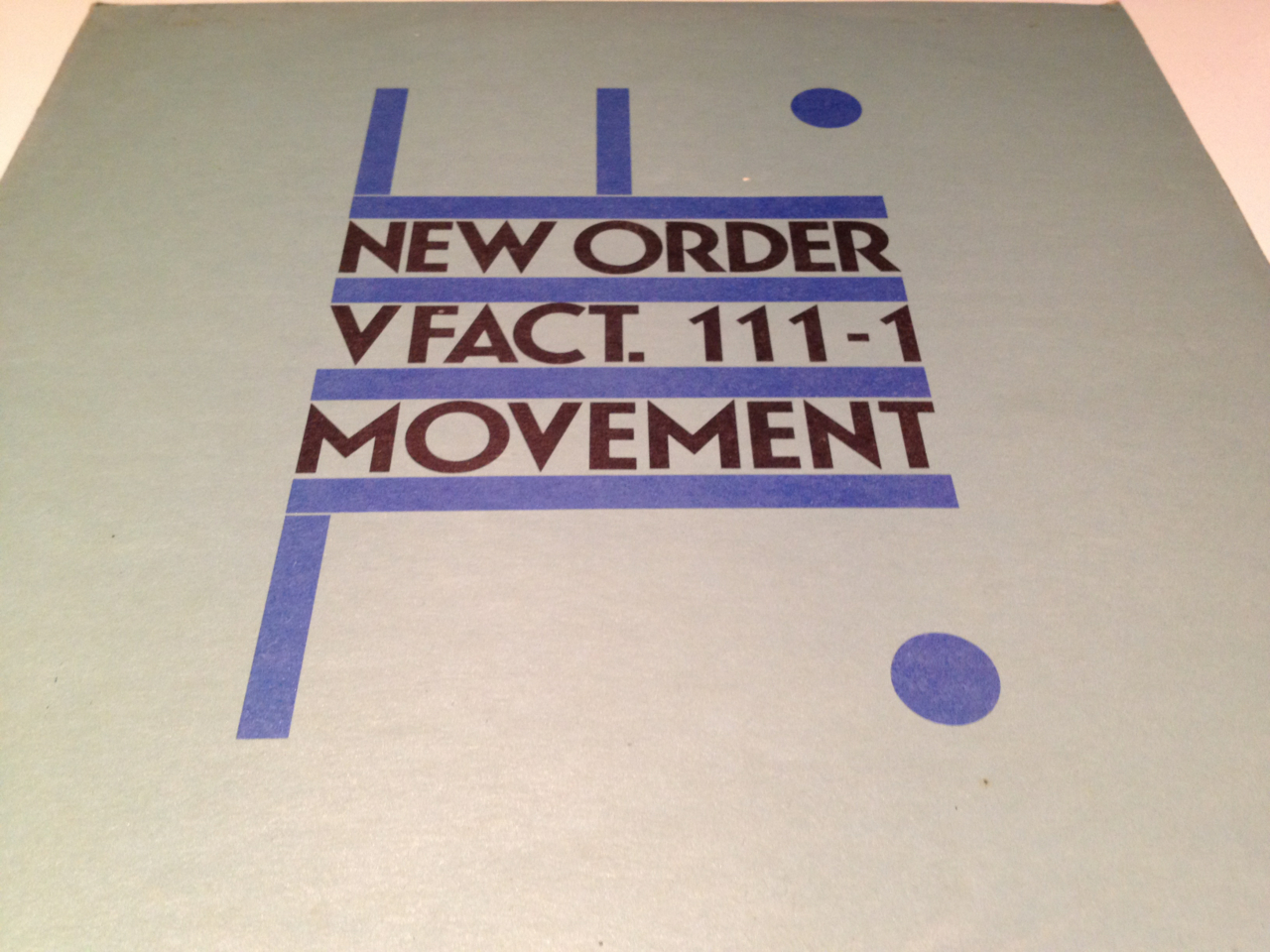 New Order. Movement.