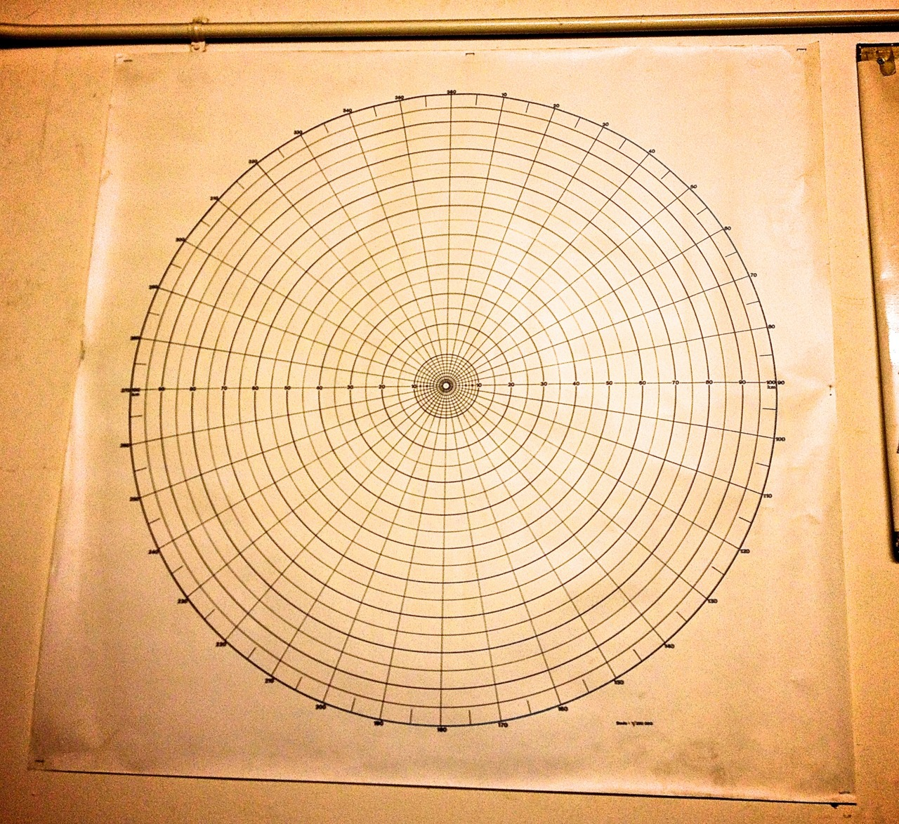 Blast radius chart taken at Kelvedon Hatch Bunker.