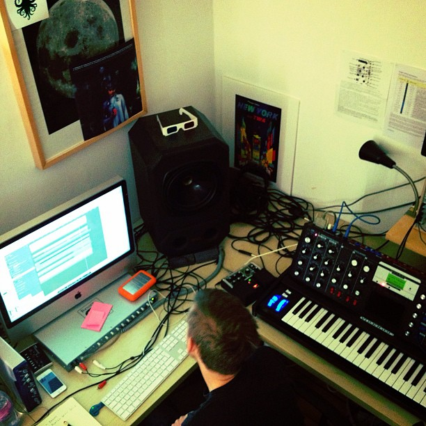 Simon is turning a Christmas classic into an electronic classic #nkc / on Instagram http://instagr.am/p/RJ_Za/