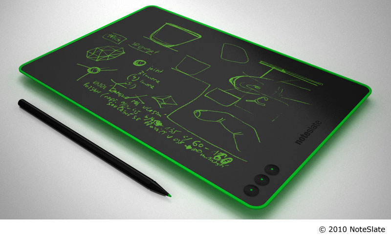 I would love one of these.    NoteSlate /// intuitively simple monochrome paper alike tablet device
