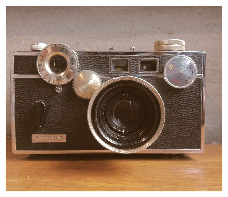 Given another vintage camera. An argus rangefinder.