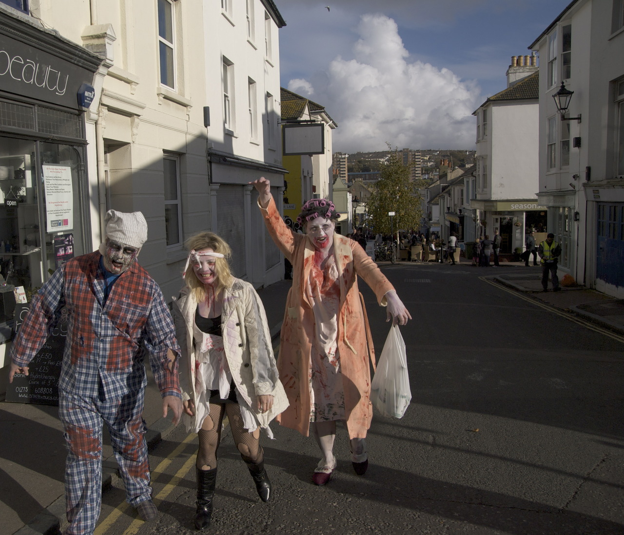 Zombies in Brighton .