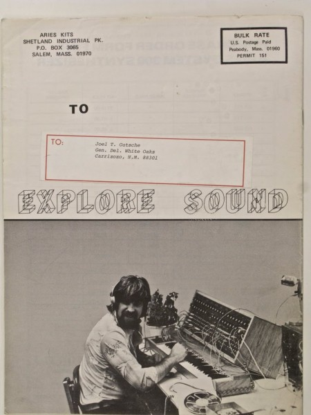 Loving the lettering on this catalogue for modular synths.    Aries: Explore Sound Cover » ISO50 Blog – The Blog of Scott Hansen (Tycho / ISO50)