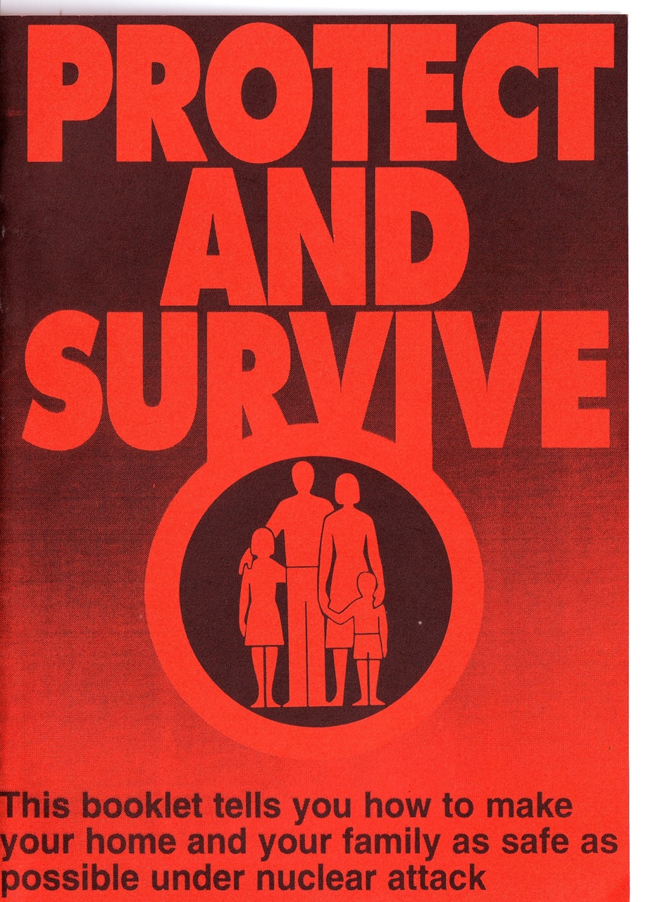 I finally got hold of a copy of  Protect and survive  after about 20 years of wanting one.  I think this is one of the things that started my morbid obsession with the Cold war and nuclear stuff.  I clearly remember sitting in Brighton reference library reading this when I was 15, annoyed I couldn't take it home.  It's full of useful advice if you should ever find yourself in the middle of a nuclear confrontation between super powers.  You can check out a pdf copy  here .