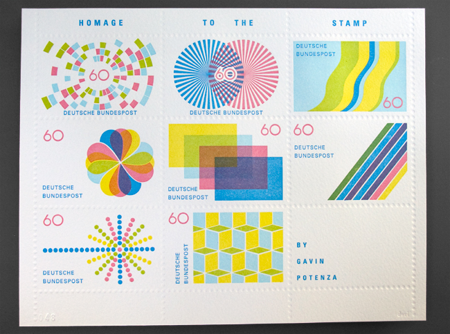 Why don't we have stamps like this in the UK.  These are beautiful and I would love one of these adorning one my letters.    Gavin Potenza — Homage to the Stamp    Found via  PSFK