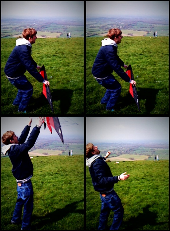 Kite flying is a mixture of relaxation and stress