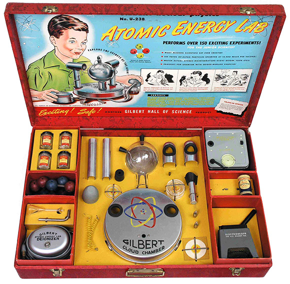 If I'd have been alive in the 50's, this would have been top of my wish list.    Gilbert U-238 Atomic Energy Lab | Toy | Gear