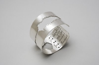 Amazing waveform jewelry - I must get one of these rings.    Sakurako Shimizu via Russell Davies