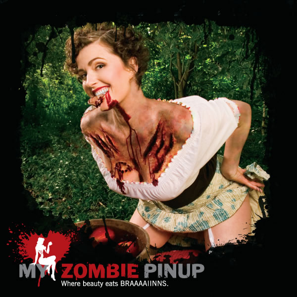 I love zombies and I love girls - this calendar makes me very happy. My Zombie Pin-up | Where Beauty Eats BRAAAAAIIIIINS!!!