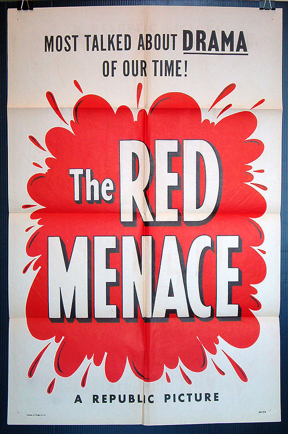 Red Menace, The (1949) Red Menace 1-sheet movie poster [] - $60.00 : Posteropolis, Vintage Posters and Memorabilia