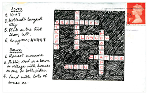 Love this story about the Royal Mail.  Harriet Russell sent 130 envelopes with cryptic games on, wondering if the Royal Mail would solve and deliver the letters.  Only 10 didn't get delivered. I really hope there will be a backlash against email soon, so that more people start sending letters by post.  There is nothing nicer than to receive a lovely letter or card - much nicer than an email. Must say though that postal deliveries aren't always looked forward too. rb.log» Blog Archive » Royal Mail Games