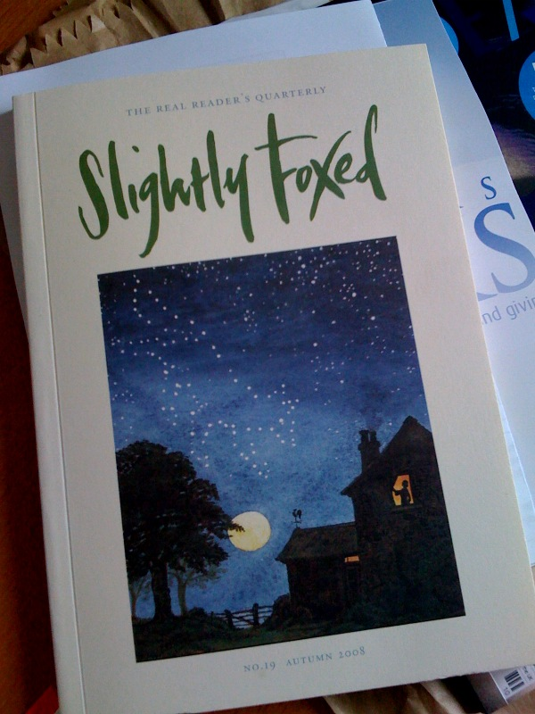 Saturday afternoon reading    Slightly Foxed: No. 19