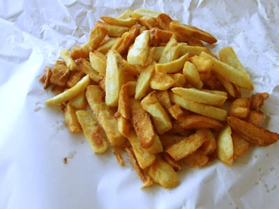 """I had a lovely conversation a couple of days ago with one of the beautiful young daughters of a couple i know and we both decided that one of the best things in life are chips from the chip shop, soaked in vinegar. She got hers that night i'm going down my local to get some now."" I couldn't agree more. howies® - Chips"