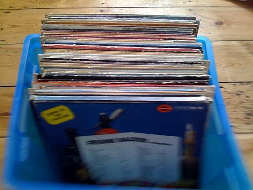 An afternoon of digging in the crates with corky burger before a day in the studio tomorrow