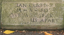 Think it's gonna be tough selling this on Ebay    Ian Curtis' Gravestone Stolen | Pitchfork