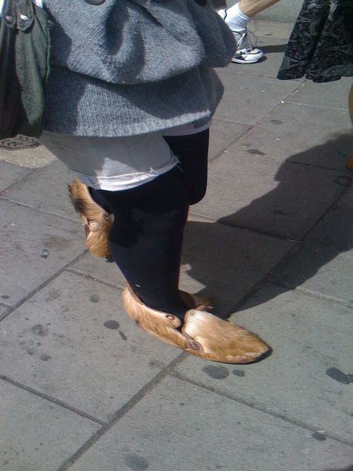 Just saw these lovely furry boots in town