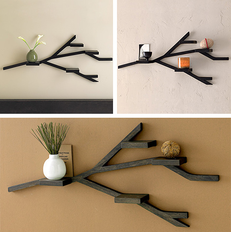 I love these shelves.  Remind me of antlers. West Elm Branch Shelf | Store | Home