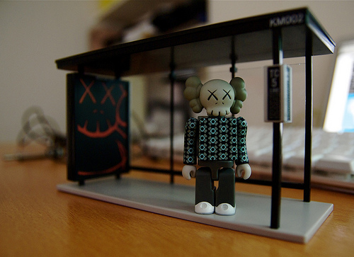 Check out the  news  on KAWS involvement in July's I-D Magazine.   My old KAWS Bus Stop Set 2 (via  maxcady808 )