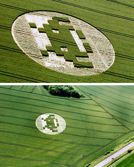 Space Invader Crop Circle