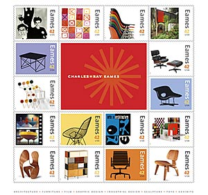 Stamps Commemorate Charles and Ray Eames