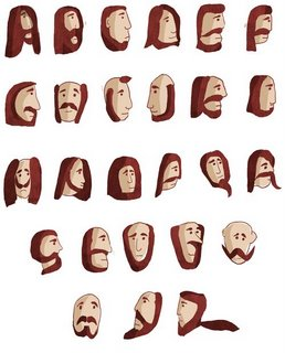 Under The Influence: Beards=cool. Beard typeface=cooler