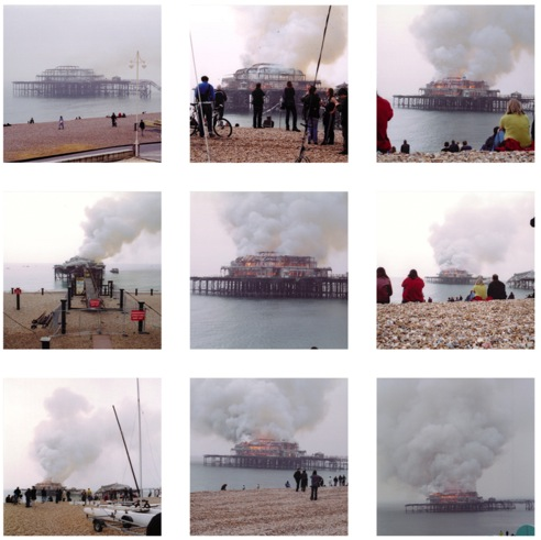 West Pier fire