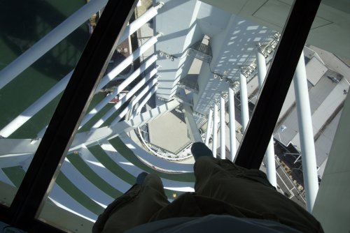 Walking across the glass floor on the Spinnaker Tower (via Photos from maxcady808, tagged tumblr)