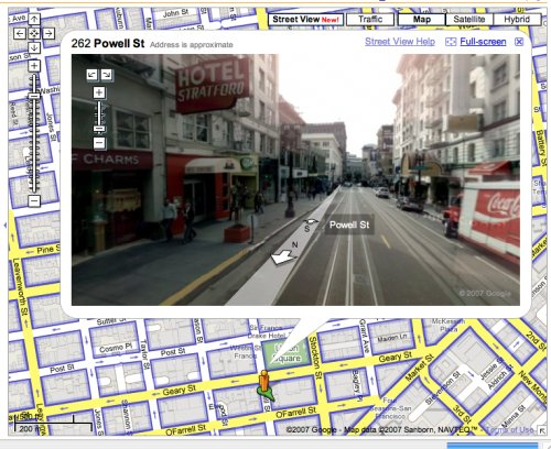 Streetview on Google Maps is cool.