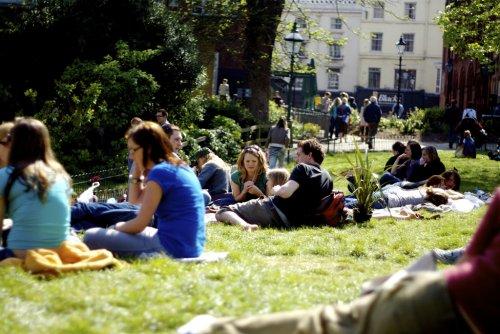 Pavillion gardens at the start of Brighton Festival (via tumblr - maxcady808's Tagged Photos)