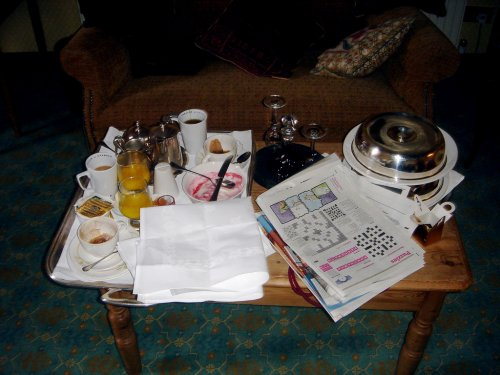 South Lodge 2007 - Can't remember the last time I had breakfast in bed and read the paper  (via  maxcady808's Photos )