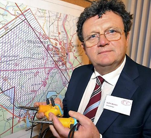 Geoff Davies, CEO of fracking company Celtique Energie