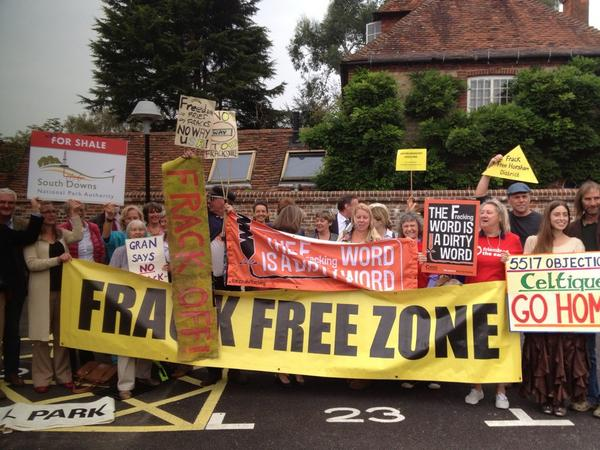 Fernhurst triumphant as South Downs says NO to fracking!