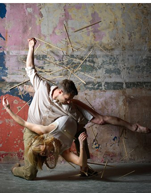 Dancers: DCD beneficiaries Gemma Nixon and Alexander Whitley. Photographer: Laurent Liotardo, DCD retrained dancer.