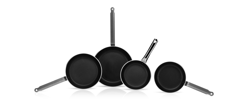 Non stick aluminium frying pans