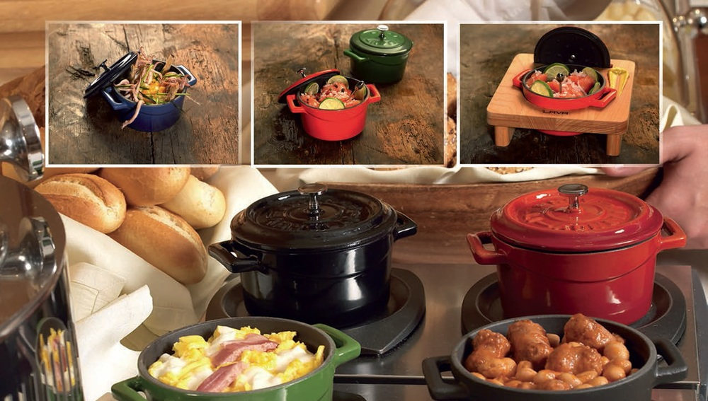 Cast iron tableware