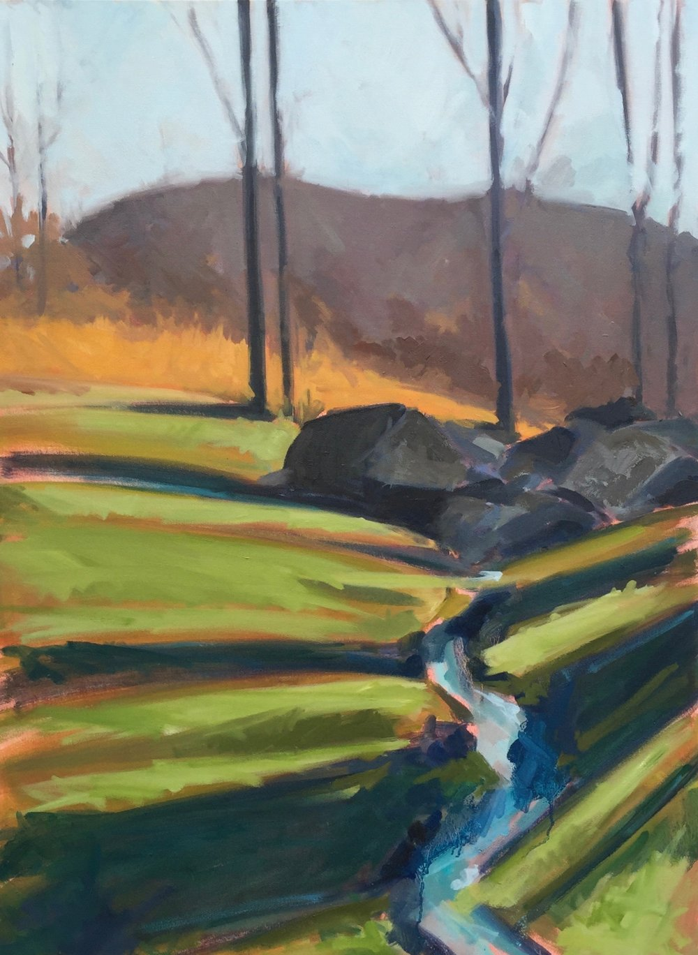 Linden creek in winter.