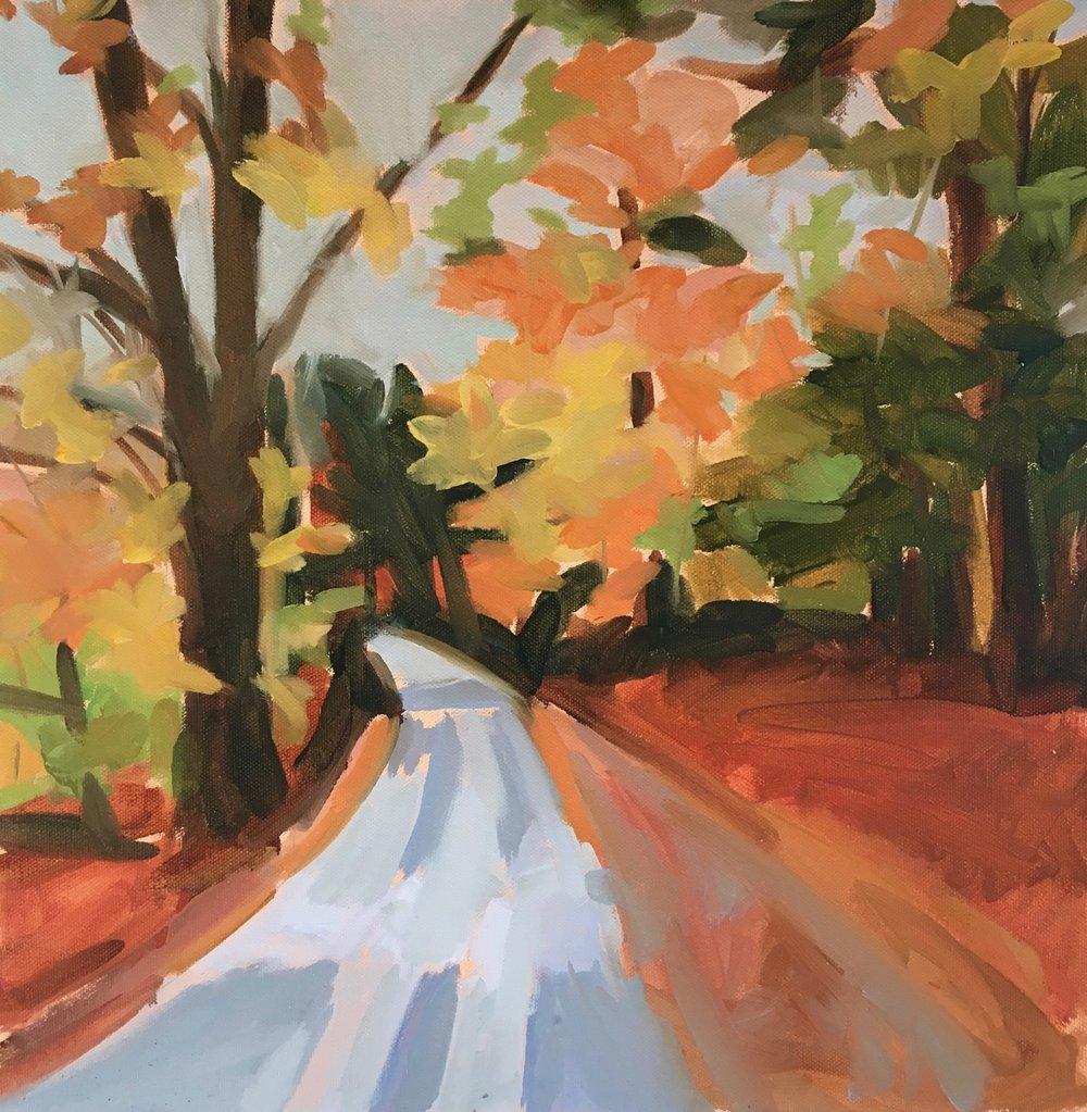 Sugar Ridge Road in the fall.