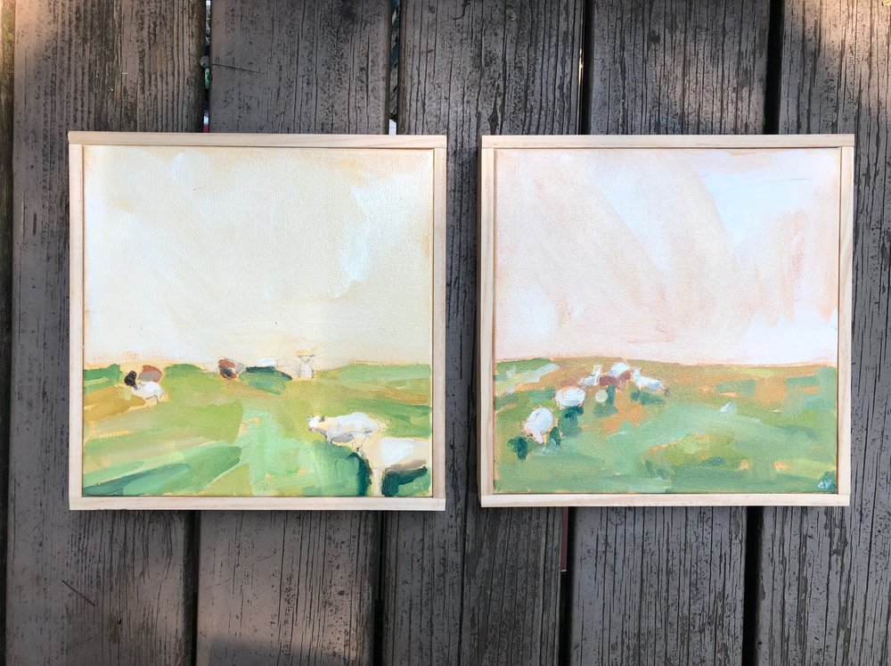 12 x 24 oil on canvas. diptych. 2018. sold.