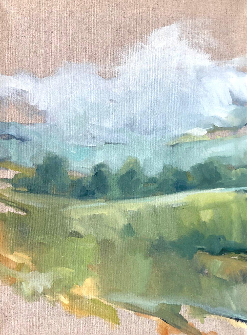 spring mist on linen