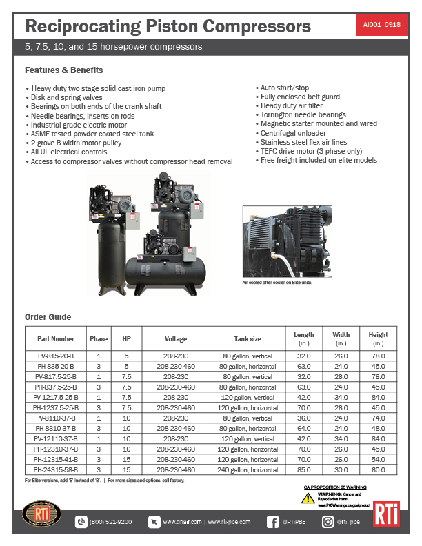 Ai001 Reciprocating Piston Compressors