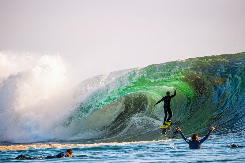 Ramon Navarro surfing at Punta de Lobos. Photo by Dylan Gordon (@dylangordon)