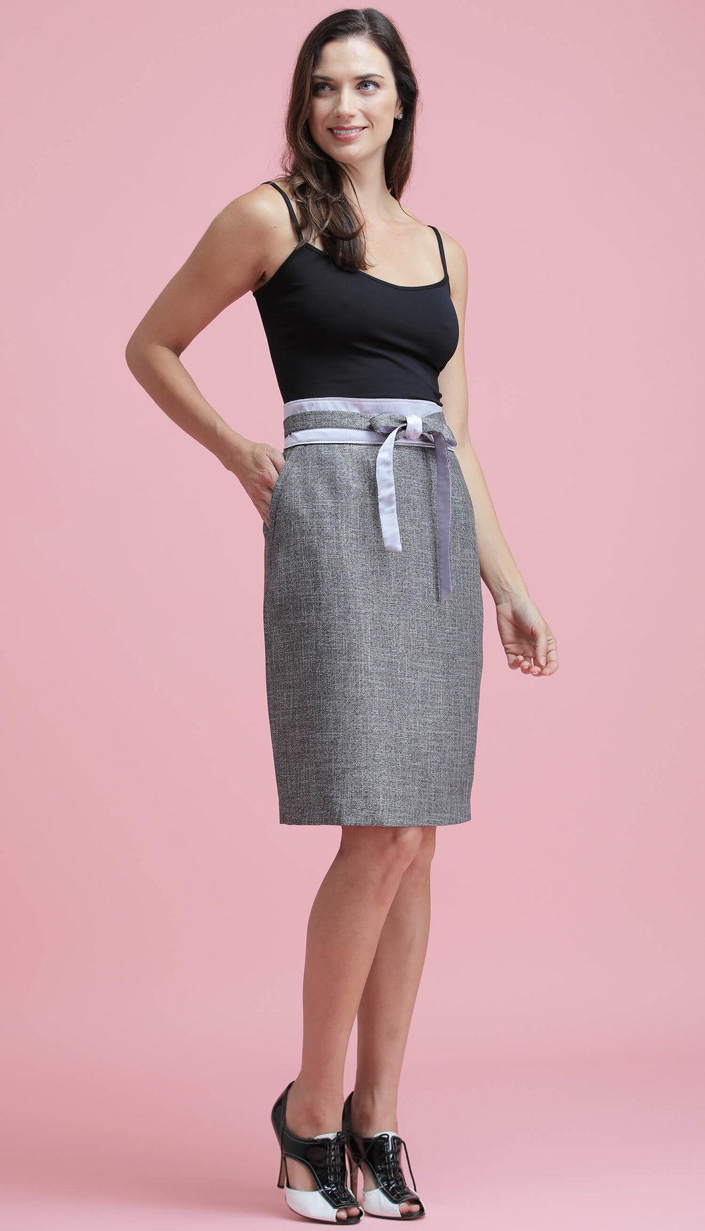 The Bamboo Skirt (in Silver)