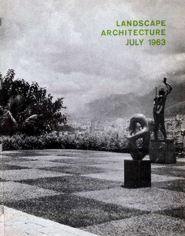 Landscape architecture magazine covers from the 1960s for American institute of landscape architects