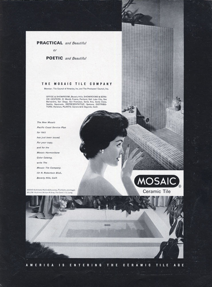 The Mosaic Tile Company, May 1962