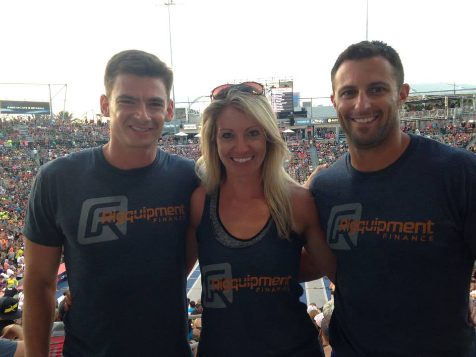 Clayton, Chelsea and Joe at the 2014 CrossFit Games
