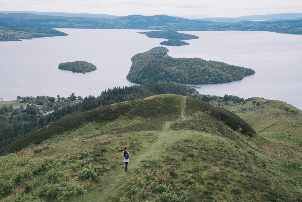 The views from the Conic Hill over Loch Lomond and its many islands.